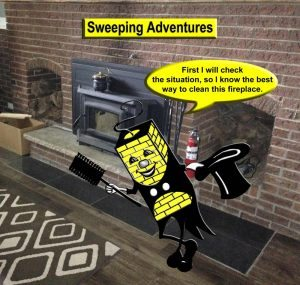 First i will check the situation, so I know the best way to clean this fireplace